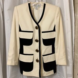 Lillie Rubin Ladies Black & Cream Jacket